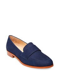 Steve Madden Quintus Slip On Leather Loafers Navy