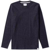 Norse Projects Long Sleeve Niels Towelling Tee Blue