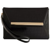 Ted Baker Evaa Angular Leather Clutch Black