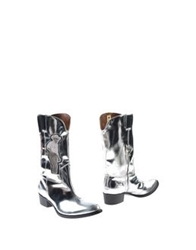 Bruce Of Los Angeles Rodeo By Acne Studios Boots Silver