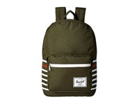 Herschel Pop Quiz Forest Night Offset Stripe Backpack Bags Olive