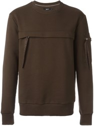 Blood Brother Zipped Pocket Sweatshirt Brown
