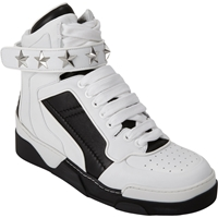 Givenchy High Top Star Ankle Strap Sneakers White