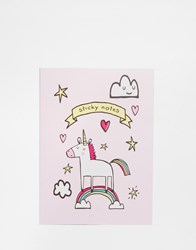 Paperchase Unicorn Sticky Notebook Multi