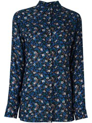 Paul Smith Ps By Floral Button Down Shirt Multicolour