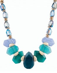Lonna And Lilly Cubic Zirconia Dyed Quartz Goldtone Collar Necklace Multi