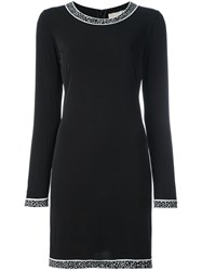 Michael Michael Kors Contrast Trim Dress Black