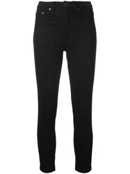 Scanlan Theodore High Waist Cropped Jeans Black