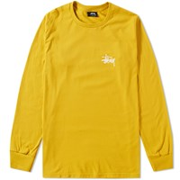 Stussy Long Sleeve Basic Tee Yellow