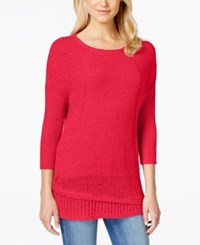 Calvin Klein Jeans Crew Neck Three Quarter Sleeve Sweater Watermelon