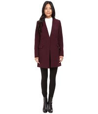 Ellen Tracy Slim Topper Fig Women's Coat Brown