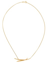 Wouters And Hendrix 'Bamboo' Necklace Metallic