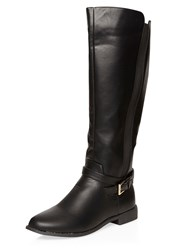 Dorothy Perkins Tahiti Gusset Boots Nearly Black