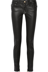 Just Cavalli Coated Mid Rise Skinny Jeans Black