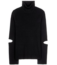 Public School Merino Wool And Cotton Sweater With Cut Outs Black