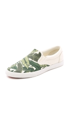 Bucketfeet Savusavu Slip On Sneakers Beige Green