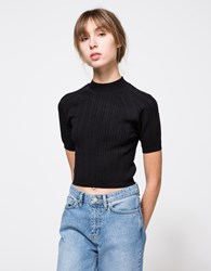 Which We Want Millenium Knit Top Black