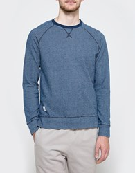 Native Youth Seersucker Jersey Crew Indigo
