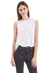 Topshop Slouchy Muscle Tank White