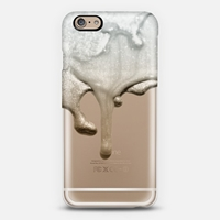 Liquid Silver And Nude Crystal Clear Iphone Case Iphone 6 Case By Monika Strigel Casetify