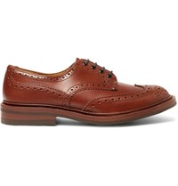 Tricker's Bourton Leather Wingtip Brogues Brown