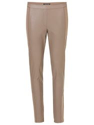 Betty Barclay Elements Pleather And Jersey Trousers Dark Almond