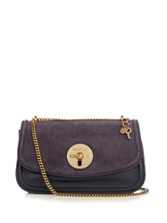 See By Chloe Lois Suede And Leather Cross Body Bag Navy
