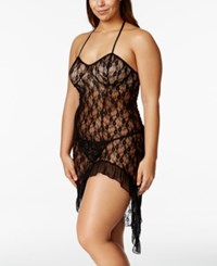 Urban Intimates Plus Size Lace Nightgown With Matching G String Ui0237x