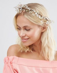 Johnny Loves Rosie Lucia Jewel Hair Crown Clear Pink Green