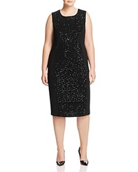 Marina Rinaldi Doriana Sequin Velvet Dress Black