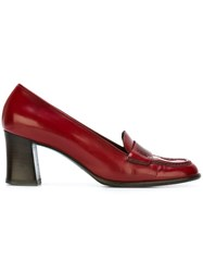 Prada Vintage Penny Pumps Red