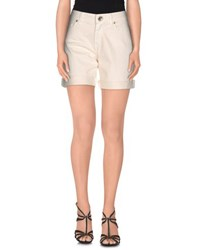 Blumarine Denim Denim Shorts Women Ivory