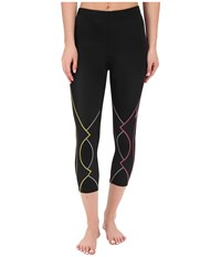 Cw X 3 4 Expert Tights Black Yellow Grey Pink Women's Workout