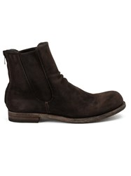 Officine Creative Rear Zipped Ankle Boots Brown