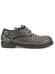 Marsell Studded Lace Up Shoes Black