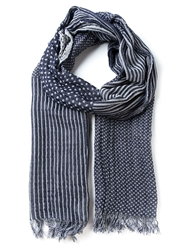 Woolrich Polka Dot And Stripe Scarf