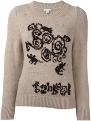 Marc Jacobs Beaded Detail Jumper Nude Neutrals