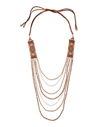 Nakamol Layered Side Station Bead Necklace Copper