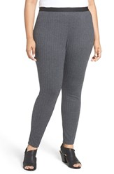 Eileen Fisher Plus Size Women's Herringbone Stretch Leggings
