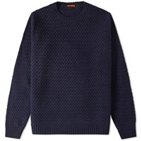 Barena Dosson Textured Crew Knit Blue