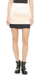 Karla Spetic Pearl Miniskirt Pearl Necklace Print
