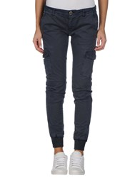 Yes Zee By Essenza Trousers Casual Trousers Women Dark Blue