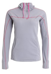 Gore Running Wear Essential Long Sleeved Top Asteroid Grey Jazzy Pink