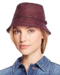 Barbour Cairn Waxed Cotton All Weather Trench Hat Bordeaux