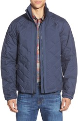 Men's Nau Quilted Zip Front Down Jacket Indigo