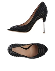 Sigerson Morrison Pumps With Open Toe Black