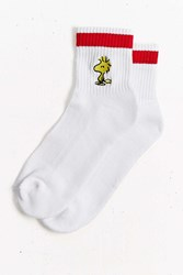 Urban Outfitters Woodstock Ankle Stripe Sock White