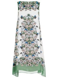 Max Studio Floral Placement Print Dress Kelly Green