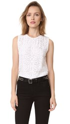 Jenni Kayne Lace Shell Top White