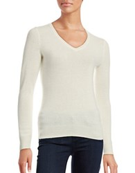 Lord And Taylor V Neck Cashmere Sweater Ivory